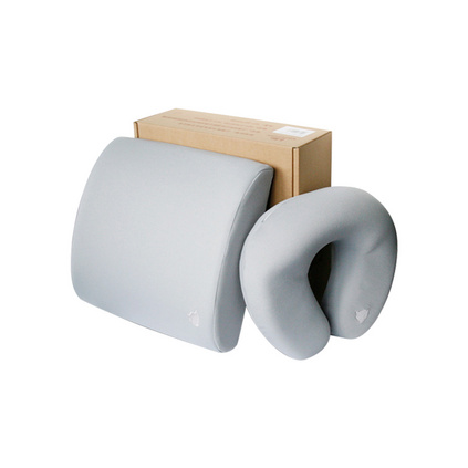阿童木车枕套装定制 记忆棉腰枕靠背U型枕定制