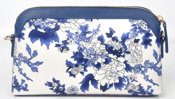 ZS012蓝牡丹手提斜挎包