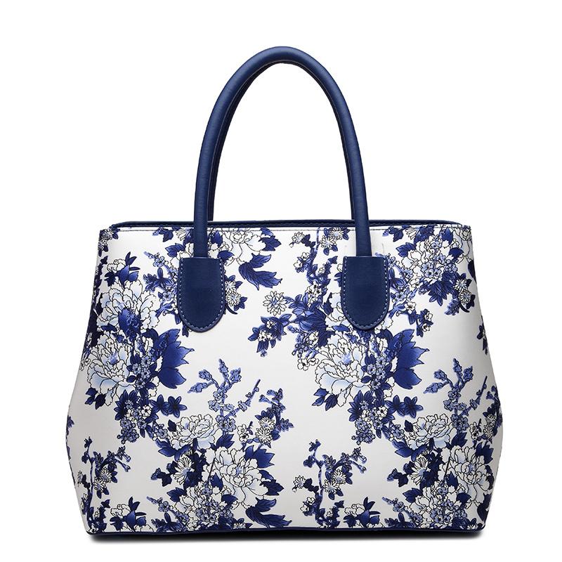 ZS008蓝牡丹手提包