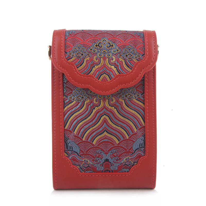 YJ464红色手机包