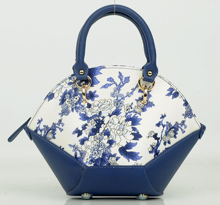 ZS017蓝牡丹手提包