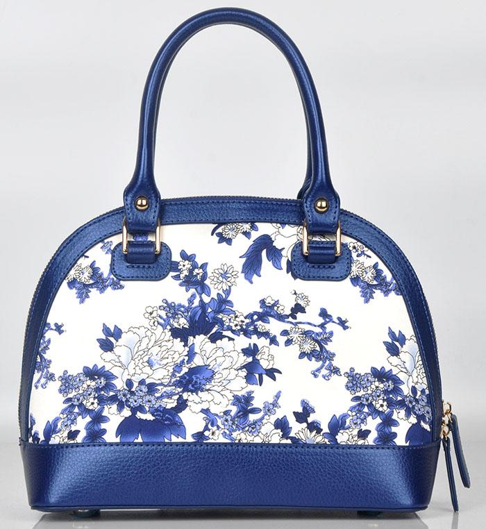 ZS014蓝牡丹手提斜挎包